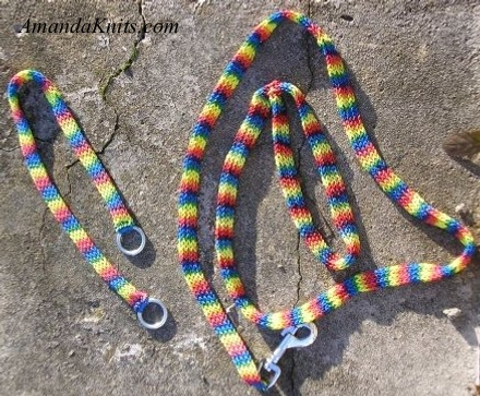 Rainbow Bright Dog Collar and Leash